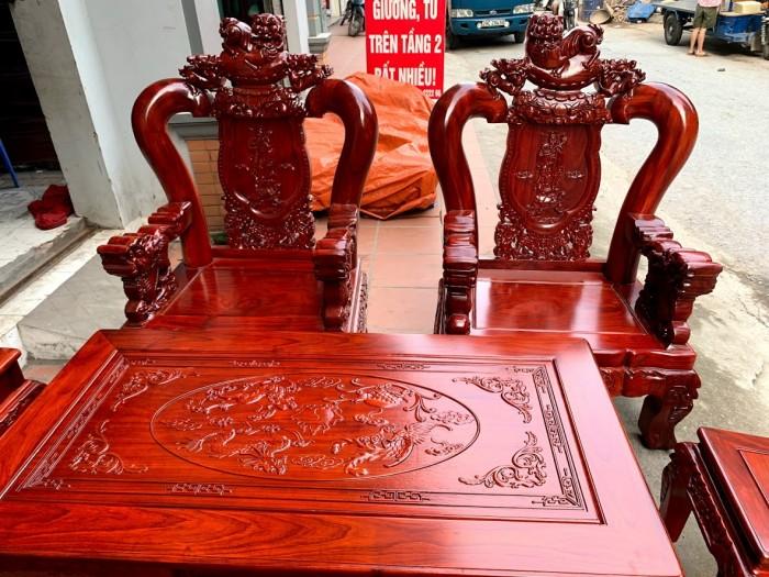 Bộ bàn ghế nghê đỉnh gỗ hương đỏ nam phi17