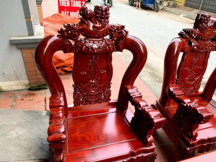 Bộ bàn ghế nghê đỉnh gỗ hương đỏ nam phi19