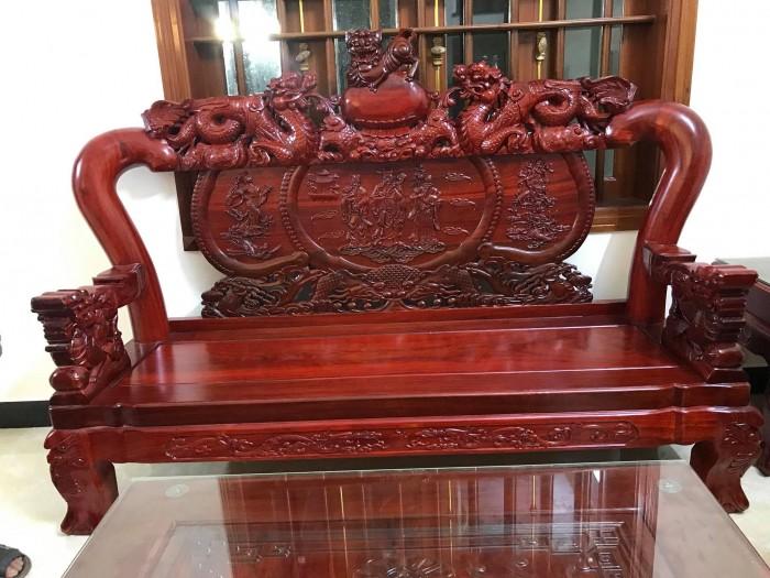 Bộ bàn ghế nghê đỉnh gỗ hương đỏ nam phi10