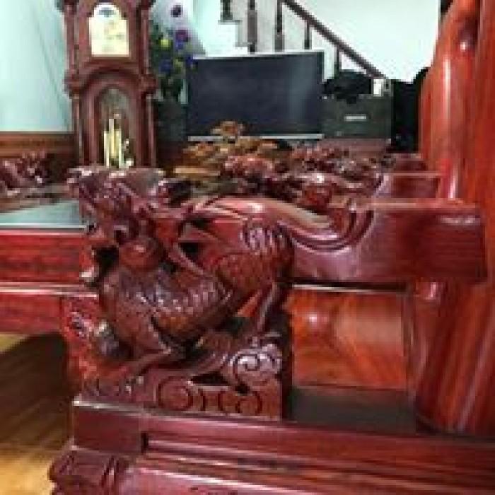 Bộ bàn ghế nghê đỉnh gỗ hương đỏ nam phi3