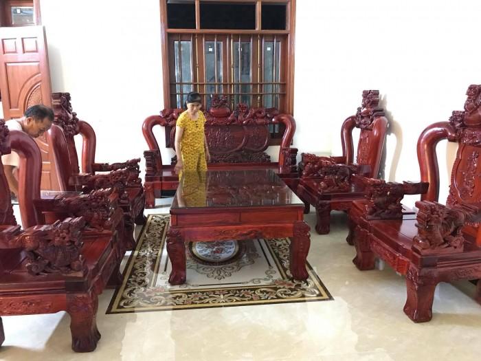 Bộ bàn ghế nghê đỉnh gỗ hương đỏ nam phi7
