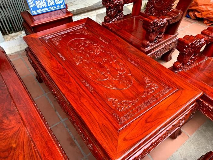 Bộ bàn ghế nghê đỉnh gỗ hương đỏ nam phi12
