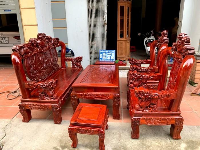 Bộ bàn ghế nghê đỉnh gỗ hương đỏ nam phi18
