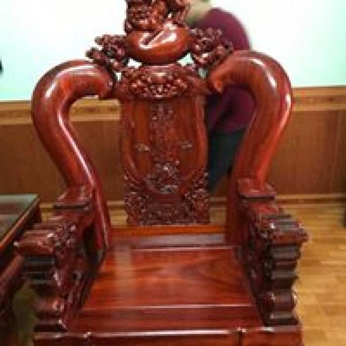 Bộ bàn ghế nghê đỉnh gỗ hương đỏ nam phi9