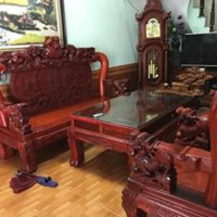 Bộ bàn ghế nghê đỉnh gỗ hương đỏ nam phi5