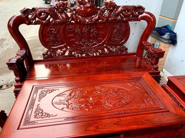 Bộ bàn ghế nghê đỉnh gỗ hương đỏ nam phi11