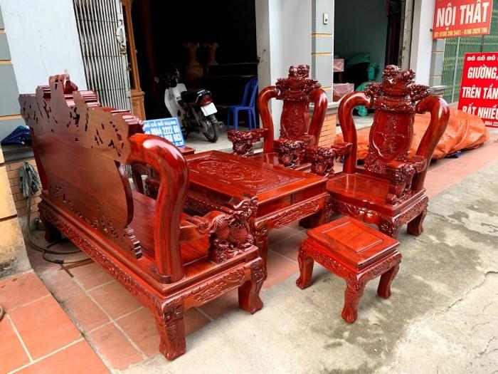 Bộ bàn ghế nghê đỉnh gỗ hương đỏ nam phi13