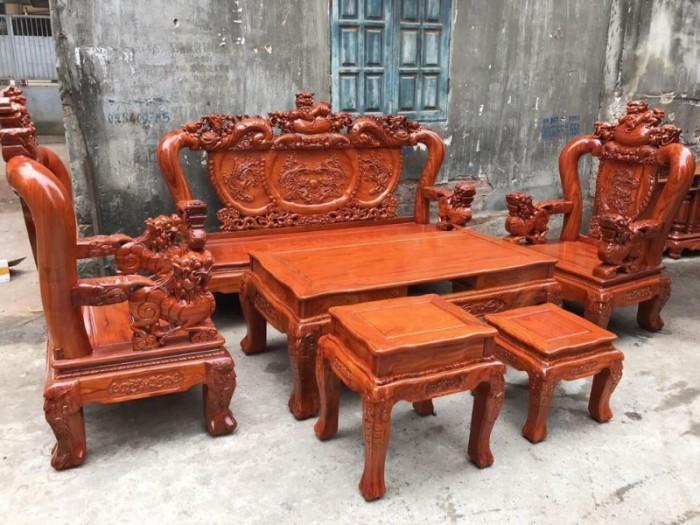 Bộ bàn ghế giả cổ nghê đỉnh gỗ hương đá17