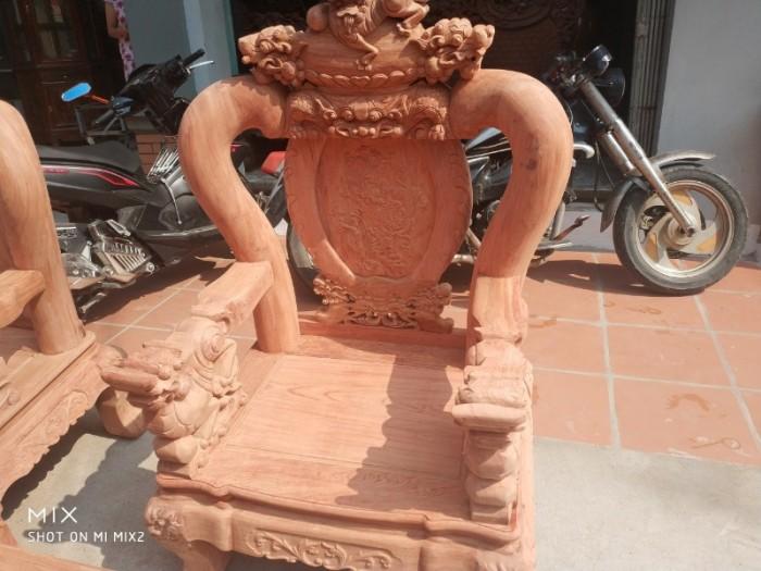 Bộ bàn ghế giả cổ nghê đỉnh gỗ hương đá9