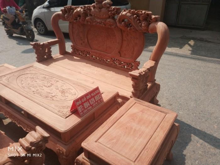Bộ bàn ghế giả cổ nghê đỉnh gỗ hương đá6