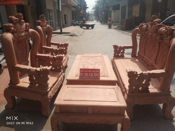 Bộ bàn ghế giả cổ nghê đỉnh gỗ hương đá19