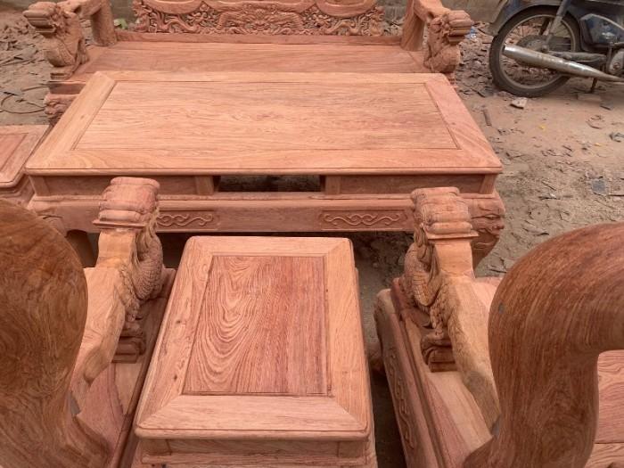 Bộ bàn ghế giả cổ nghê đỉnh gỗ hương đá13