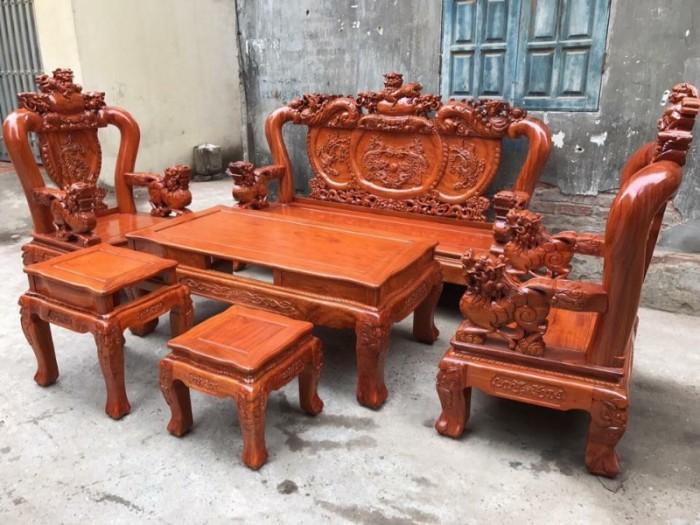 Bộ bàn ghế giả cổ nghê đỉnh gỗ hương đá12