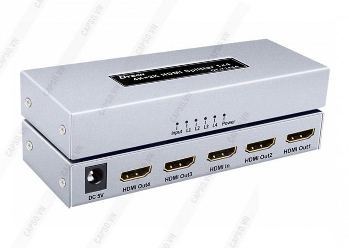Chia HDMI 1 ra 4 DTECH DT-7144A có độ phân giải cực cao lên đến 4K x 2K ( Chuẩn rõ nét nhất hiện nay )