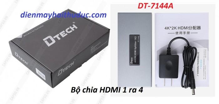 Chia HDMI 1 ra 4 DTECH DT-7144A sử dụng Adapter 5V/ 1A Tiêu hao ít năng lượng.