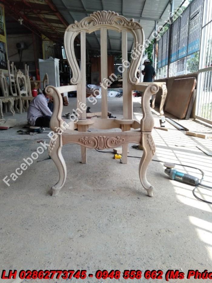 khung sườn ghế từ gỗ sồi nga17