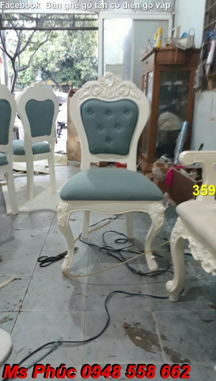 Ghế ăn cổ điển bọc vải bố29