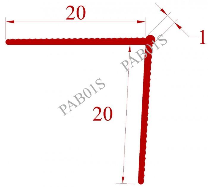 Độ dày lớp bả mastic 1mm, 2 cánh 20mm x 20mm, góchoàn thiện sắc cạnh, màu trắng W013