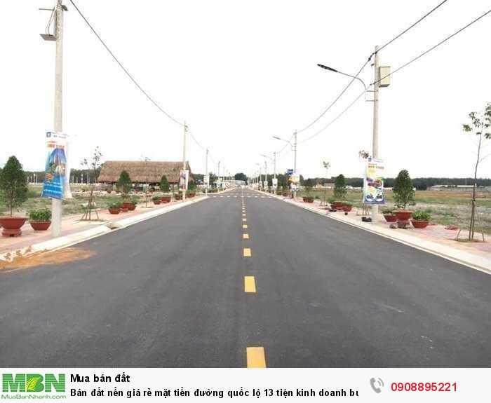 Bán đất nền giá rẻ mặt tiền đường quốc lộ 13 tiện kinh doanh buôn bán