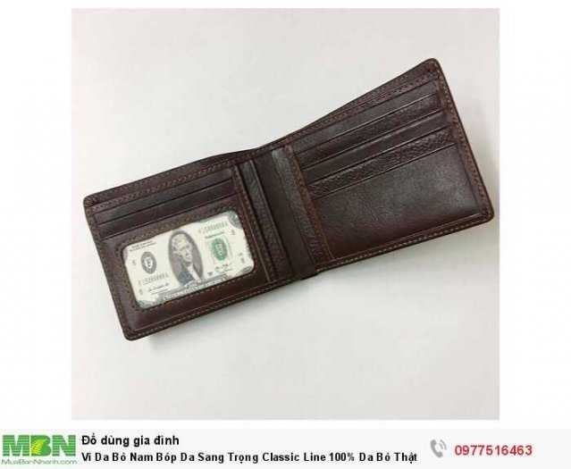 Ví Da Bò Nam Bóp Da Sang Trọng Classic Line 100% Da Bò Thật