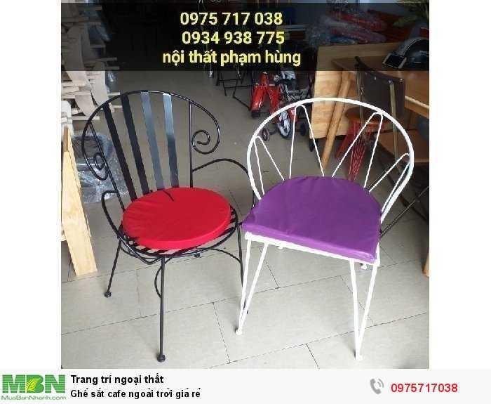 Ghế sắt cafe ngoài trời giá rẻ0