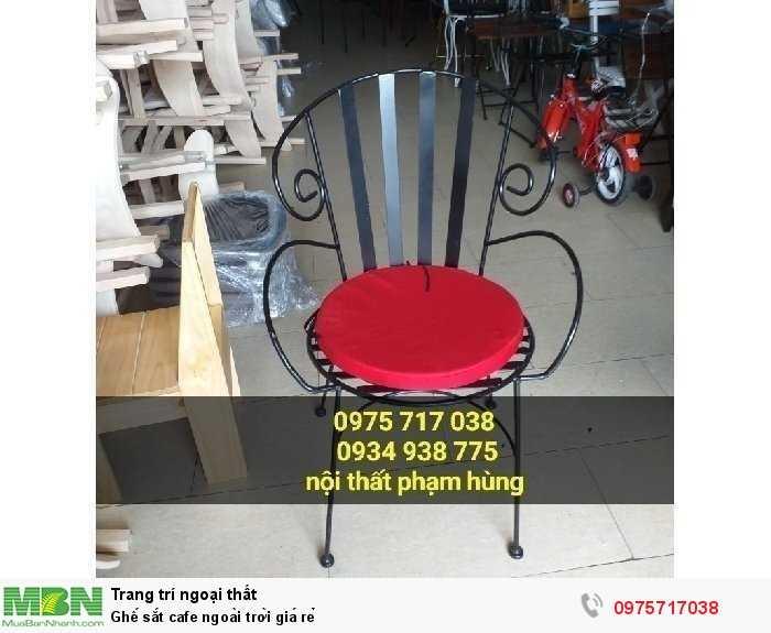 Ghế sắt cafe ngoài trời giá rẻ1