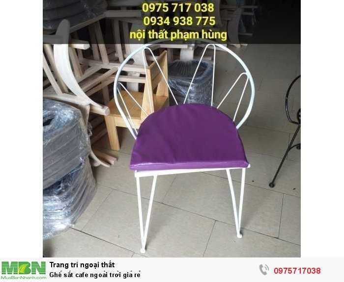 Ghế sắt cafe ngoài trời giá rẻ3
