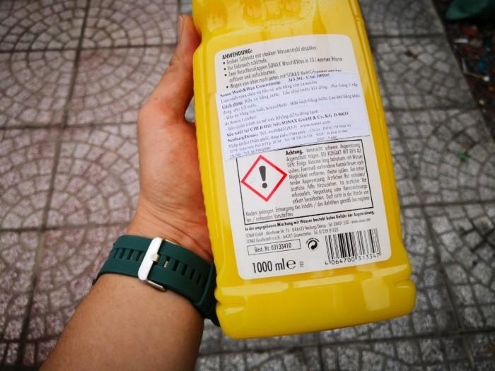 Nước Rửa Xe Đa Năng Bóng Sơn Kết Hợp Sonax Wash & Wax 313341 1000ml Tặng Khăn 0