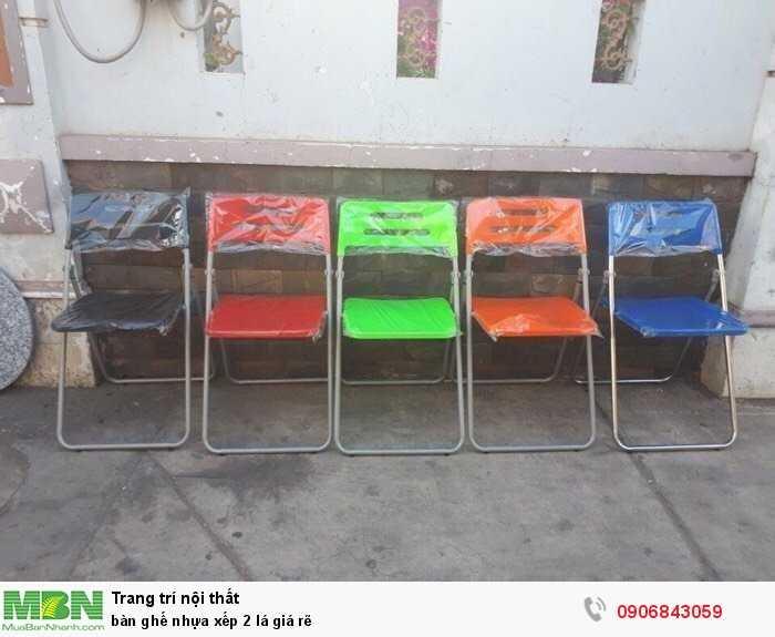 bàn ghế nhựa xếp 2 lá giá rẽ0