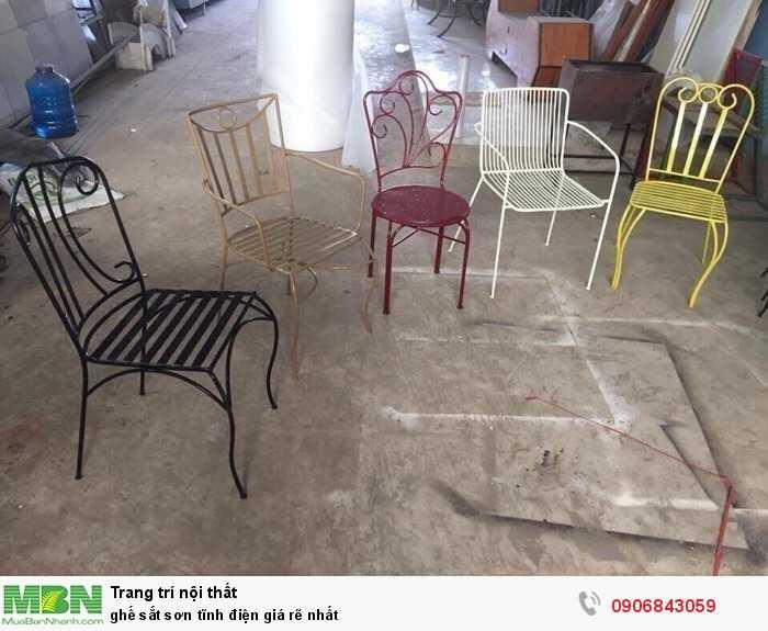 ghế sắt sơn tĩnh điện giá rẽ nhất