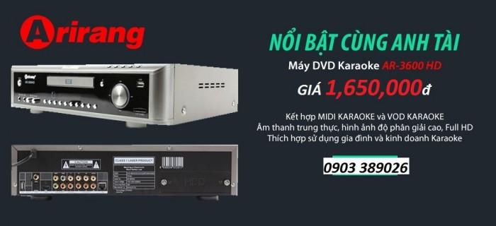 Đầu karaoke Arirang AR-3600HD tại , Điện Máy Hải số 41 Lê Văn Ninh, P Linh Tây Chợ Thủ Đức bán đầu karaoke Arirang AR-3600 HD hạ giá bất giờ chỉ còn 1650K/ bộ và còn khuyến mãi thêm 2 micro Arirang 3.6C chính hãng1