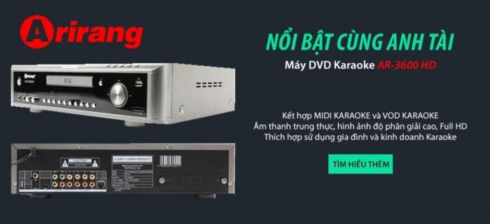 Đầu karaoke Arirang AR-3600HD Khuyến mãi 2 micro Arirang AR-3.6C.2