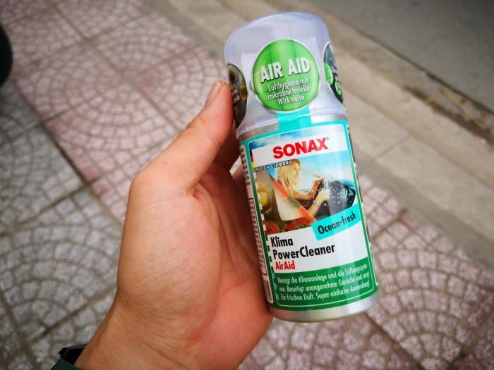 Khử Mùi, Diệt Nấm Mốc Dàn Lạnh Ô Tô Sonax A/C Cleaner 323 100 (100ml) 2