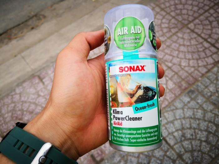 Khử Mùi, Diệt Nấm Mốc Dàn Lạnh Ô Tô Sonax A/C Cleaner 323 100 (100ml) 5