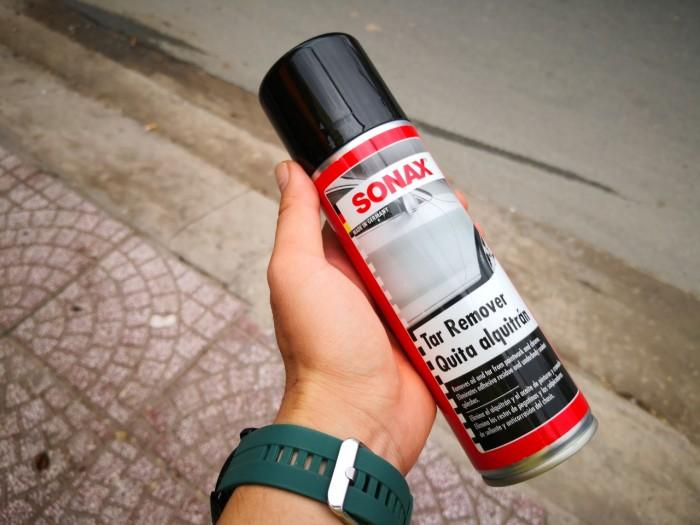 Dung Dịch Vệ Sinh Tẩy Nhựa Đường Sonax Tar Remover 334250 300ml Tặng khăn