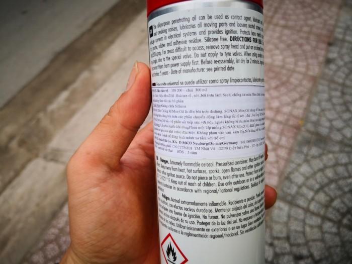 Chai Xịt Bảo Vệ Chống Rỉ Sét Sonax MOS 2 Oil 339400 (300ml)