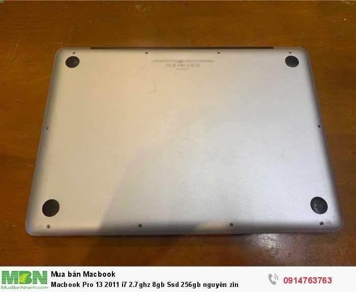 Macbook Pro 13 2011 i7 2.7ghz 8gb Ssd 256gb nguyên zin2