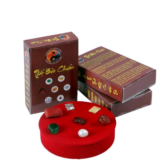 Bộ cốt thất bảo - cốt bát hương, cốt bát nhang, cốt tượng chuẩn (hộp nâu)0