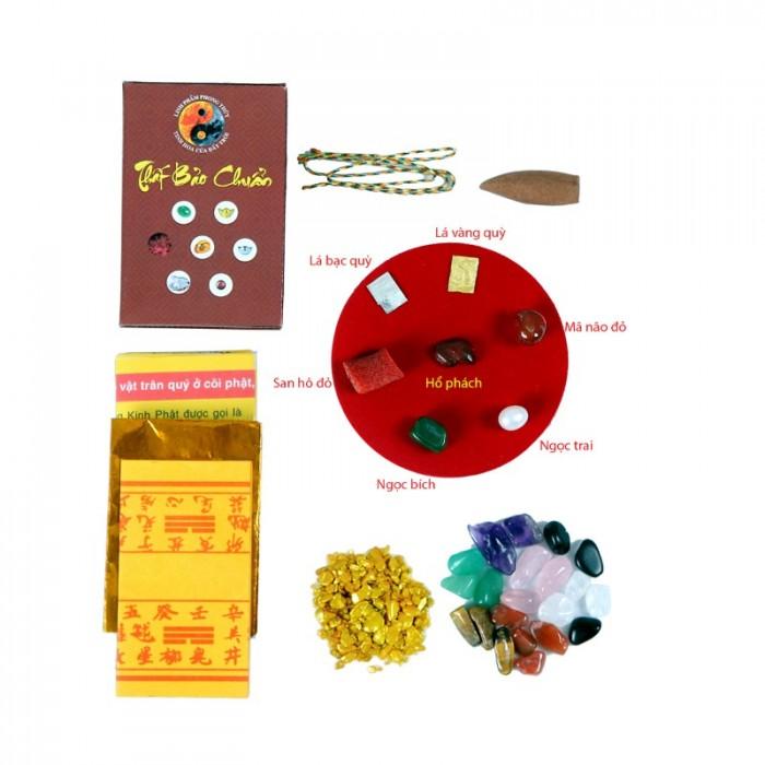 Bộ cốt thất bảo - cốt bát hương, cốt bát nhang, cốt tượng chuẩn (hộp nâu)3