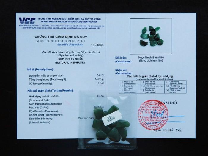 Ngọc bích tự nhiên đã được kiểm định chất lượng tại VGC9