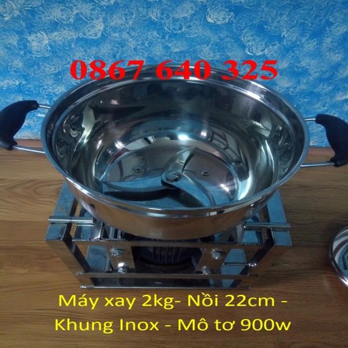 Máy xay thịt cá loại 2kg/mẻ khung inox2