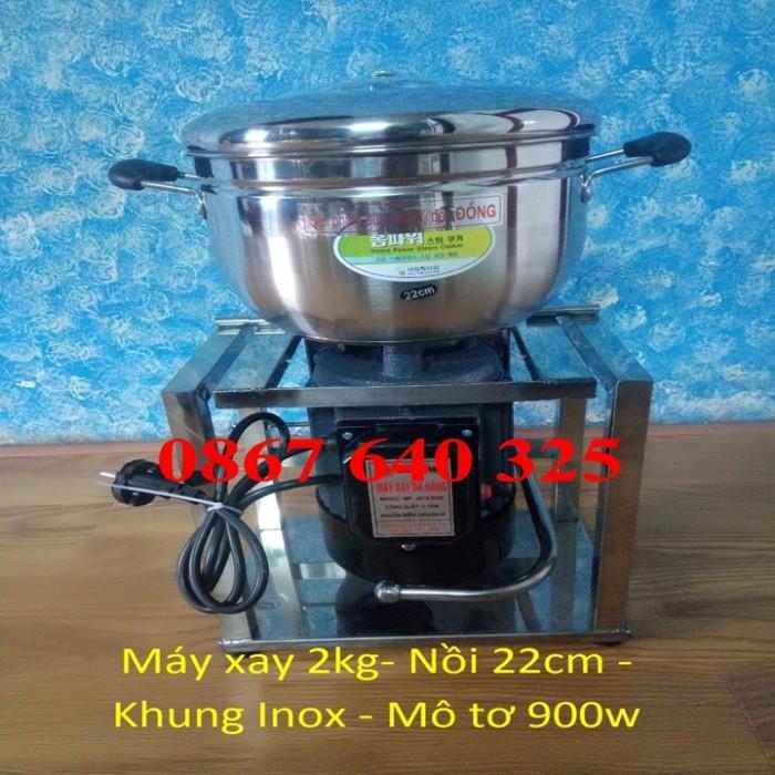 Máy xay thịt cá loại 2kg/mẻ khung inox1