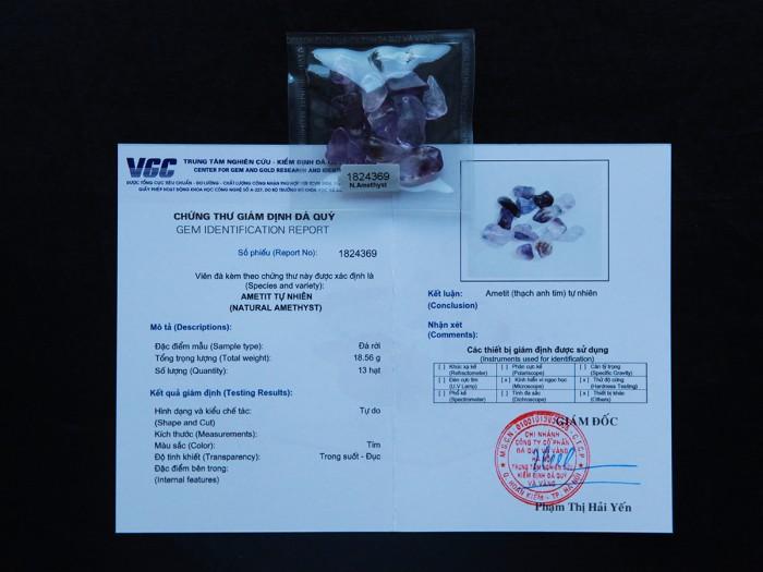 Thạch anh tím tự nhiên đã được kiểm định chất lượng tại VGC7