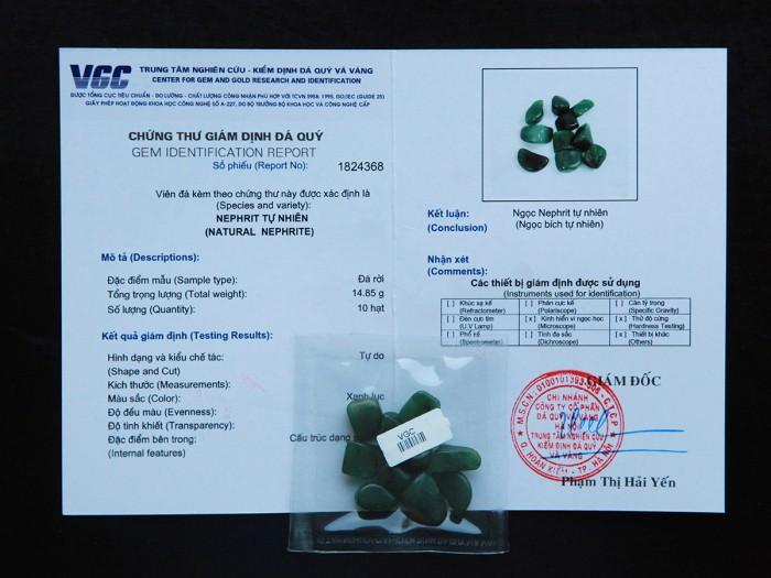 Ngọc Bích tự nhiên được kiểm định chất lượng tại VGC5