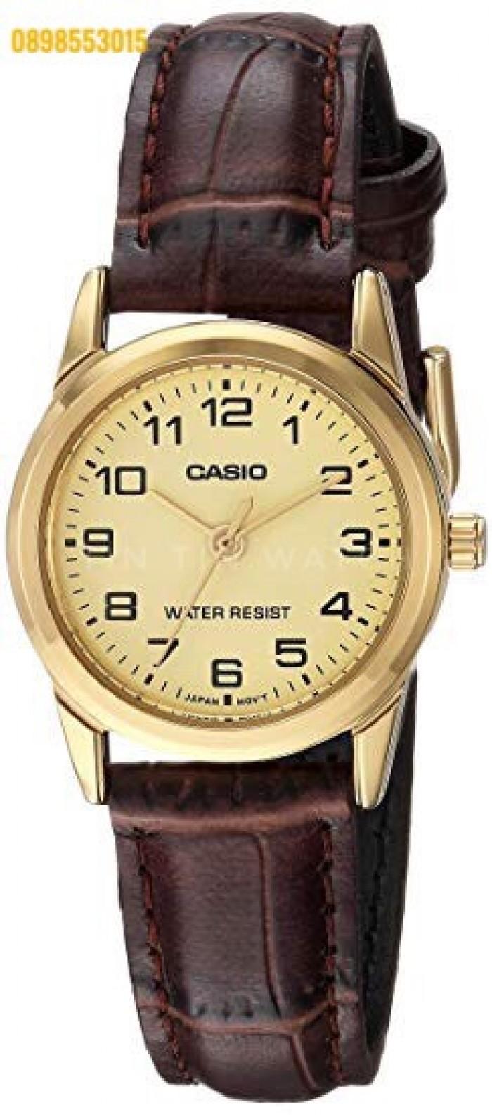Đồng hồ nữ dây da Đồng hồCASIO LTP - V001GL - 9BUDF0