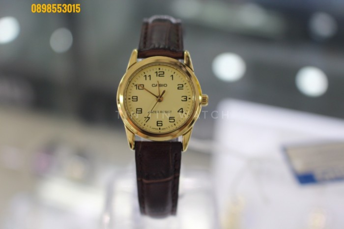 Đồng hồ nữ dây da Đồng hồCASIO LTP - V001GL - 9BUDF3