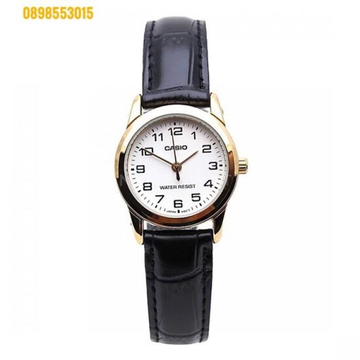 Đồng hồ nữ dây da Đồng hồCASIO LTP - V001GL - 9BUDF1