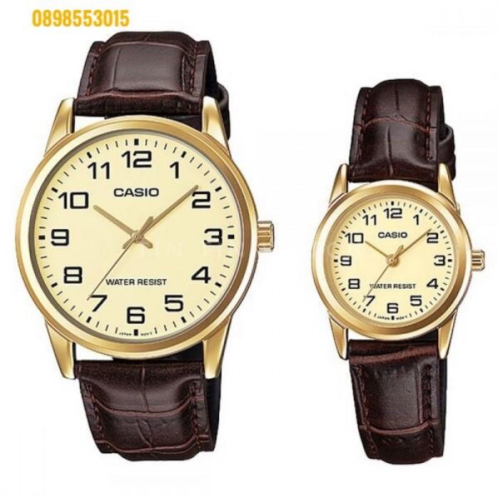 Đồng hồ nữ dây da Đồng hồCASIO LTP - V001GL - 9BUDF2