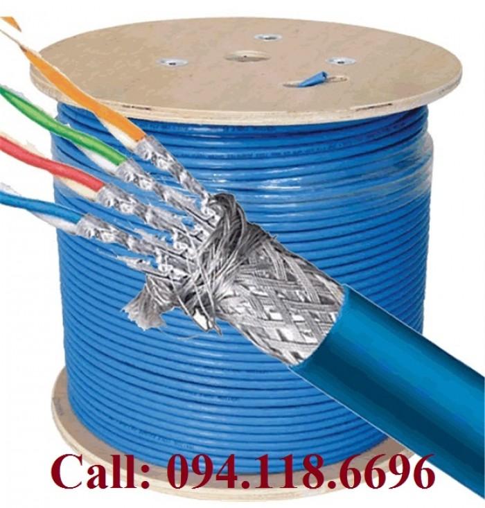 Cáp mạng Cat7 SSTP bọc bạc lưới thép chống nhiễu2