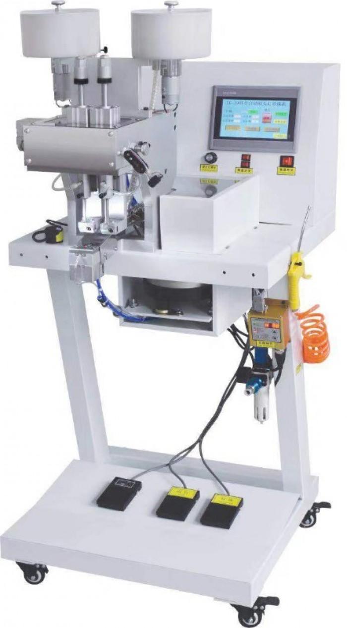 - Máy đóng cườm ngọc trai hai đầu phù hợp cho ngành sản xuất quần áo, giày dép,túi da, trang sức thủ công và các sản phẩm khác.7